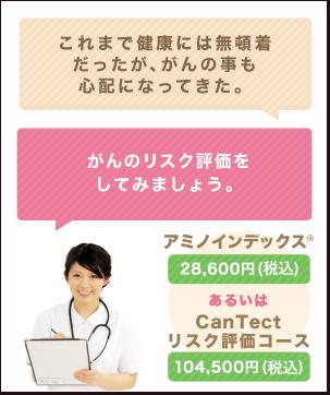 これまで好き勝手にやってきたので、少しは健康も気になっている。 がんのリスク評価をしてみましょう。 アミノインデックス26,000円あるいはCanTectリスク評価コース90,000円
